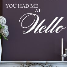 You Had Me At Hello~ Wall sticker / decals